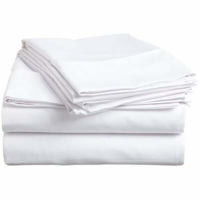 400 Thread Count Cotton Sheet Set Size: Full, Color: White