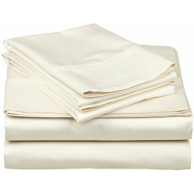 400 Thread Count Egyptian Quality Cotton Split Sheet Set Size: King, Color: Ivory