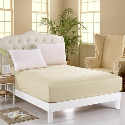 400 Thread Count Egyptian Quality Cotton Fitted Sheet Size: King, Color: Ivory