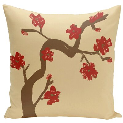Frisange Hypoallergenic Throw Pillow Size: 16 H x 16 W, Color: Ginger / Dragon