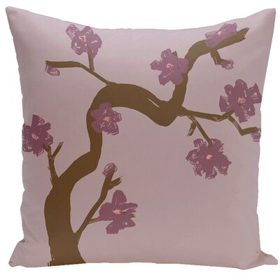Frisange Hypoallergenic Throw Pillow Size: 18 H x 18 W, Color: Plum