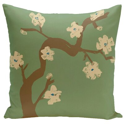 Frisange Hypoallergenic Throw Pillow Color: Edamame, Size: 18 H x 18 W