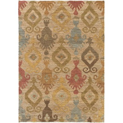 Horak Hand-Woven Beige Area Rug Rug Size: Rectangle 5 x 8