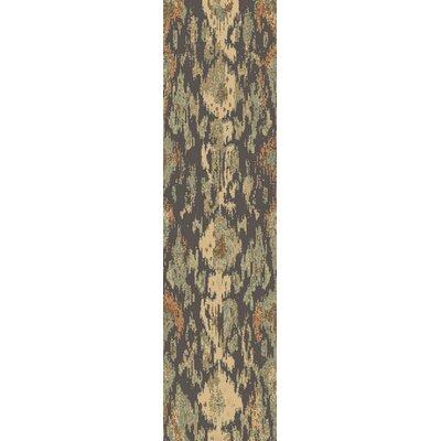 Higa Black/Beige Area Rug Rug Size: Runner 27 x 73