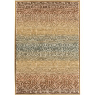 Higa Gold Area Rug Rug Size: Rectangle 110 x 211