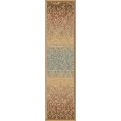 Higa Gold Area Rug Rug Size: Runner 27 x 73