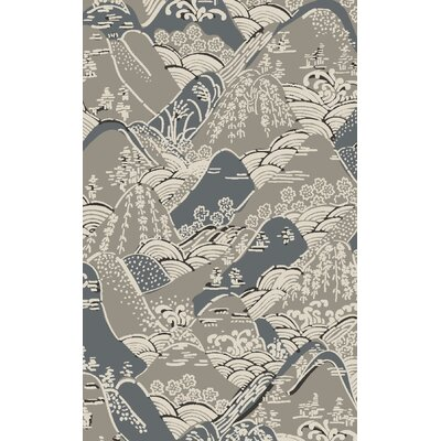 Brees Hand-Tufted Gray Area Rug Rug Size: 33 x 53