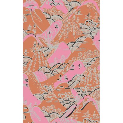 Brees Hand-Tufted Pink/Orange Area Rug Rug Size: 33 x 53