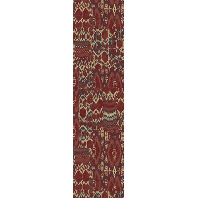 Almeta Red Area Rug Rug Size: Runner 27 x 73
