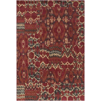 Almeta Red Area Rug Rug Size: 53 x 73