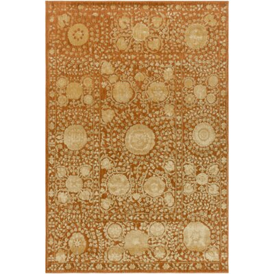 Almeta Gold Area Rug Rug Size: Rectangle 710 x 910