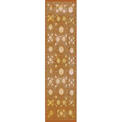 Almeta Gold Area Rug Rug Size: Runner 27 x 73