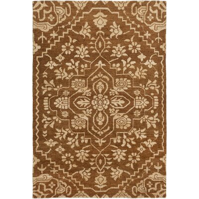 Tarangini Hand-Knotted Brown/Beige Area Rug Rug Size: Rectangle 5 x 76
