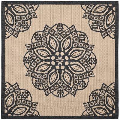 Catori Beige/Black Indoor/Outdoor Area Rug Rug Size: Square 67