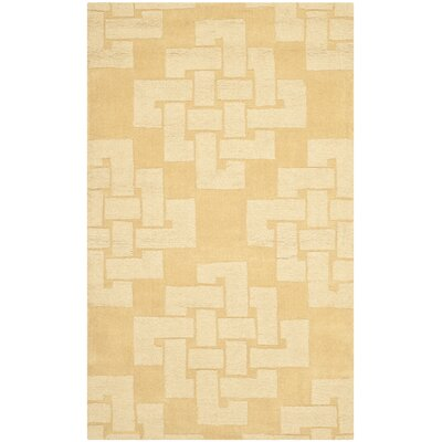 Knot Hand-Tufted Rattan Area Rug Rug Size: 3 x 5