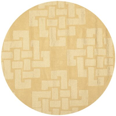 Knot Hand-Tufted Rattan Area Rug Rug Size: Round 4 x 4