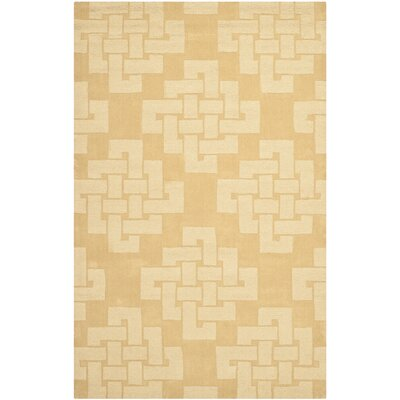 Knot Hand-Tufted Rattan Area Rug Rug Size: 5 x 8