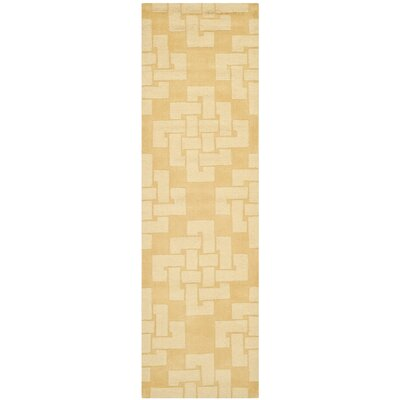 Knot Hand-Tufted Rattan Area Rug Rug Size: Runner 23 x 8