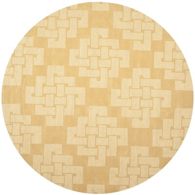 Knot Hand-Tufted Rattan Area Rug Rug Size: Round 8 x 8