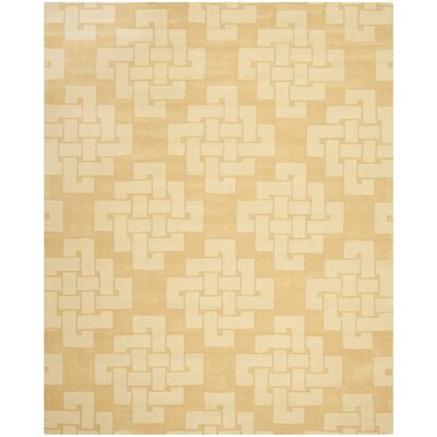 Knot Hand-Tufted Rattan Area Rug Rug Size: 9 x 12
