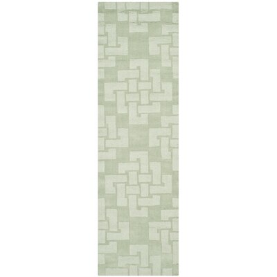 Knot Hand-Tufted Sea Anemone Area Rug Rug Size: Runner 23 x 8