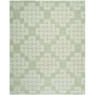 Knot Hand-Tufted Sea Anemone Area Rug Rug Size: Rectangle 8' x 10'