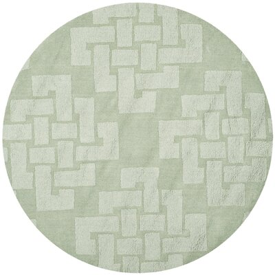 Knot Hand-Tufted Sea Anemone Area Rug Rug Size: Round 4 x 4