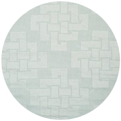 Knot Hand-Tufted Waterfall Area Rug Rug Size: Round 4 x 4