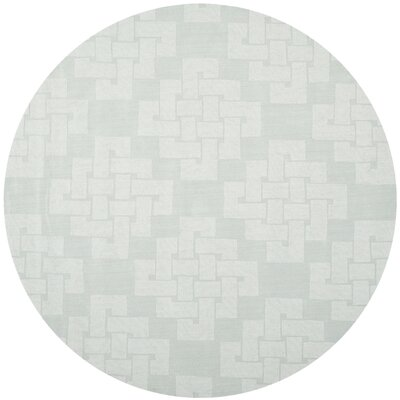 Knot Hand-Tufted Waterfall Area Rug Rug Size: Round 8 x 8
