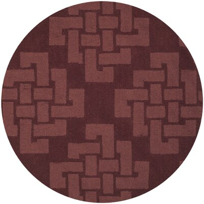 Knot Hand-Tufted Ceiling Wax Area Rug Rug Size: Round 4