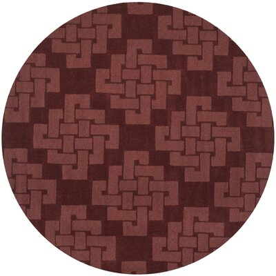 Knot Hand-Tufted Ceiling Wax Area Rug Rug Size: Round 8