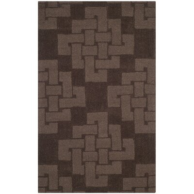 Knot Hand-Tufted Chocolate Truff Area Rug Rug Size: 3 x 5