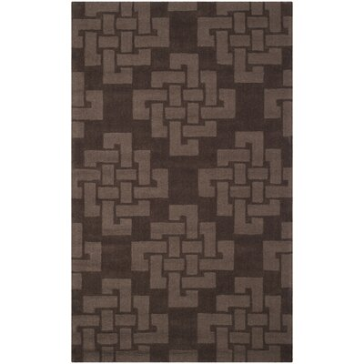 Knot Hand-Tufted Chocolate Truff Area Rug Rug Size: 5 x 8