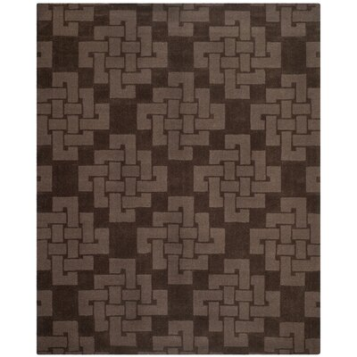 Knot Hand-Tufted Chocolate Truff Area Rug Rug Size: 9 x 12
