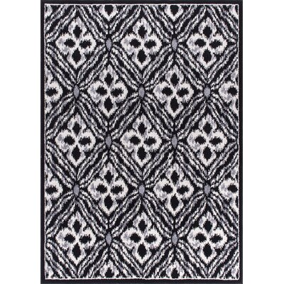 Omprakash Black Area Rug Rug Size: Rectangle 53 x 73