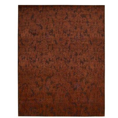 Sahana Brick Area Rug Rug Size: 12 x 15