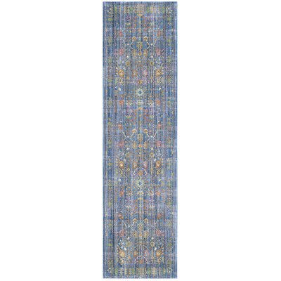 Misael Blue Area Rug Rug Size: Rectangle 2 x 3