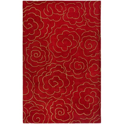 Argana Hand-Tufted Red Area Rug Rug Size: 83 x 11