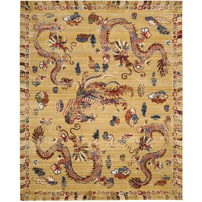Chosposi Grown Ochre Area Rug Rug Size: 99 x 128