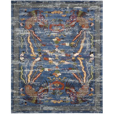 Chosposi Blue Area Rug Rug Size: 79 x 99