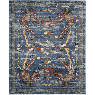 Chosposi Blue Area Rug Rug Size: 99 x 128