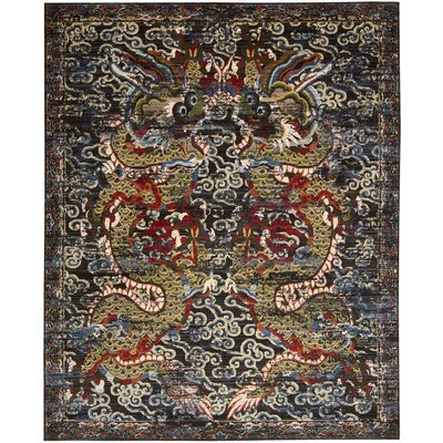 Chosposi Black Midnight Area Rug Rug Size: Rectangle 9'9