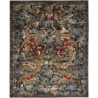 Chosposi Black Midnight Area Rug Rug Size: 79 x 99