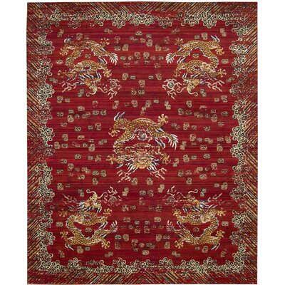 Chosposi Oxblood Area Rug Rug Size: Rectangle 79 x 99