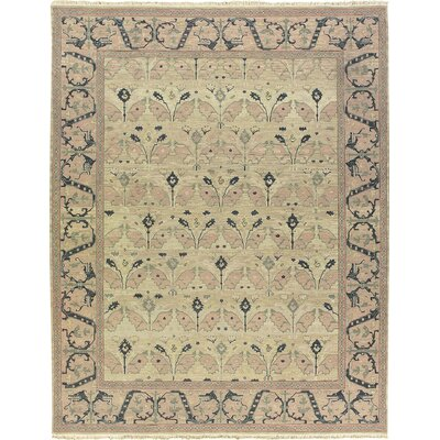 Nishtha Hand-Knotted Gold Area Rug Rug Size: Rectangle 310 x 510