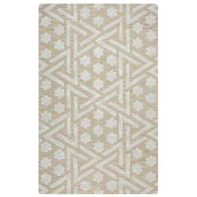 Amol Hand-Tufted Beige Area Rug Rug Size: 9 x 12