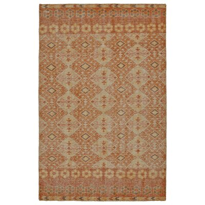 Aanya Hand-Knotted Orange Area Rug Rug Size: Rectangle 2' x 3'