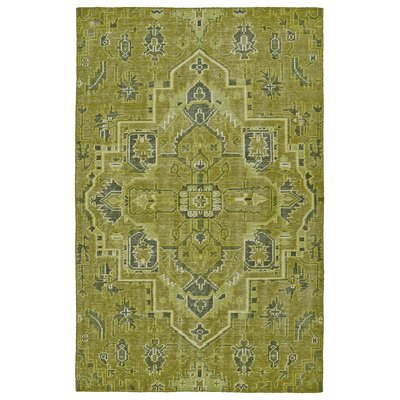 Aanya Hand-Knotted Avocado Area Rug Rug Size: Rectangle 4 x 6
