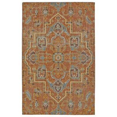 Aanya Hand-Knotted Paprika Area Rug Rug Size: 56 x 86