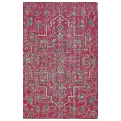 Aanya Hand-Knotted Pink Area Rug Rug Size: Rectangle 56 x 86